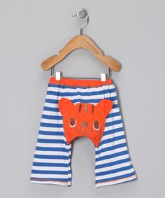 Take a look at this Blue & Orange Tabby Cat Pants - Infant & Toddler by Kazoo on #zulily today!