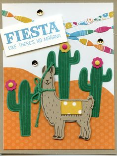Stampin Up Birthday Fiesta bundle including DSP: cased from Kris Dickinson (my upline).