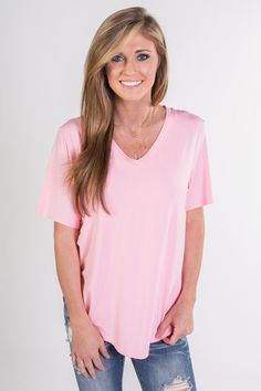 The perfect basic for any summer wardrobe is here! Short sleeve, v-neck Piko top. Always free shipping on US orders $50 & up!
