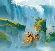 The Croods concept art. This movie is full of amazing scenery and design