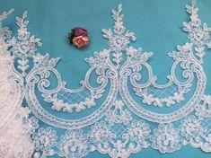 Weiße Alencon Lace Trim Elfenbein Lace Trim Hochzeitssuite