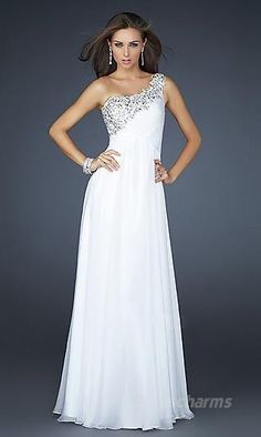 A-Line Chiffon One-Shoulder Long Dress Charm89307 Prom Dress 2014 b68b976f0fe5