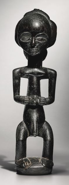 Luba Male Statue by the Warua Master, Democratic Republic of the Congo | Lot | Sotheby's - Together with his peer and contemporary, the Buli Master, the Warua Master is one of the two most famous Luba artists and seems to have worked exclusively for Luba royalty. The male statue offered here is unique in the Warua Master's œuvre and rightfully considered to be the artist's greatest masterpiece. Published and exhibited numerous times throughout the past four decades, it has inspired some of…