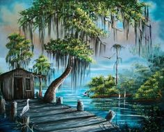 When I dream of Florida, I dream like this.  The Florida Highwaymen is a group of artists.  Think I'll start collecting before everybody finds out about them.