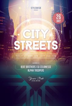 City Streets Flyer by styleWish (Download PSD file)