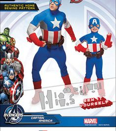 Simplicity Patterns Us1030A-Simplicity Boys' And Men'S Captain America Costume-3 - 8 / S - Xl