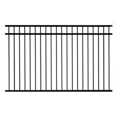 Ironcraft Euro Black Powder Coated Steel Decorative Fence