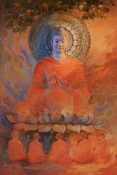 """Live with no sense of 'mine,' not forming an attachment to experiences."" – The Buddha, Sutta Nipata ♥ lis Buddha Artwork, Buddha Wall Art, Buddha Decor, Buddha Zen, Buddha Buddhism, Buddhist Art, Budha Painting, Buddha Drawing, Tibetan Art"