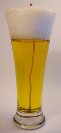 Faux Pilsner, High Froth, Beer Gel Candle, Mens Musk Scent by HolleyCouperCrafts for $14.95