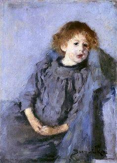 1890 Olga Boznanska (Polish Impressionist painter, 1865-1945) Srebrzysta dziewczynka