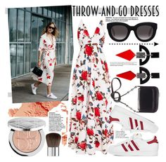 """THROW-AND-GO-DRESSES"" by rinagq ❤ liked on Polyvore featuring Bobbi Brown Cosmetics, Muse, adidas and Toolally"
