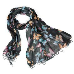 Butterfly Scarf - New Colours by Charlotte's Web Butterfly Scarf, Charlottes Web, Great British, Alexander Mcqueen Scarf, Colours, Clothing, Outfits, Collection, Fashion