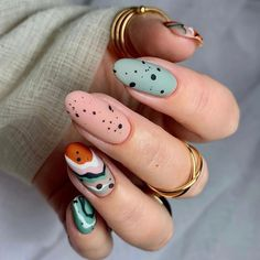 Nail Manicure, Gel Nails, Acrylic Nails, Shellac Nail Art, Nail Polish, Cute Nails, Pretty Nails, Easter Nail Art, Almond Nails Designs