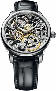 Maurice Lacroix Masterpiece Squelette Skeleton Dial Mens Watch MP7208-SS001-000  ::::::::::::::::::::::::More men fashion at http://www.mkshosting.com/men%20shoes.htm