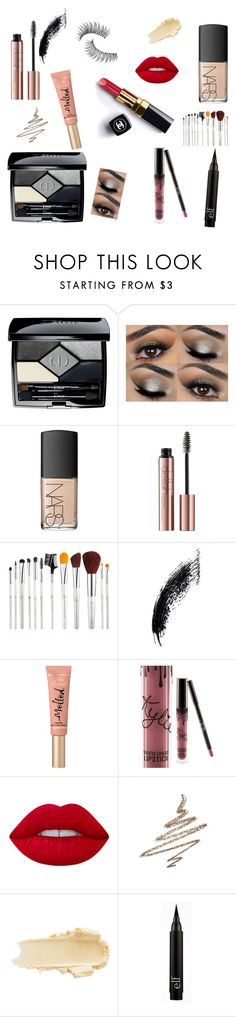 """""""Untitled #391"""" by zerinac931 ❤ liked on Polyvore featuring beauty, Christian Dior, NARS Cosmetics, Too Faced Cosmetics, Kylie Cosmetics, Lime Crime, Anastasia Beverly Hills, Chanel, Trish McEvoy and Beauty"""