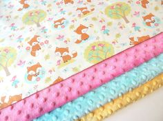 Hey, I found this really awesome Etsy listing at https://www.etsy.com/listing/189232126/fox-baby-blanket-made-to-order-forest