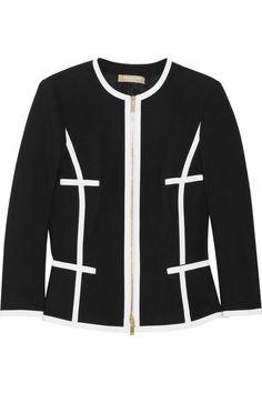 Michael Kors Contrast-trimmed cotton jacket