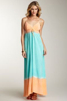 Gypsy 05 Long V-Neck Silk Maxi Dress by A Dress for All Occasions on @HauteLook
