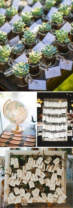 Etiquetas para bodas. Ideas Seatting plan