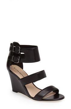 Via Spiga 'Fernanda' Wedge Leather Sandal (Women) available at #Nordstrom