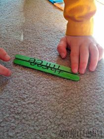 Sight Word Popsicle Stick Puzzles-cute idea for word work!