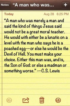 "Yes! Best quote ever from ""Mere Christianity""!.... a must-read for all!"