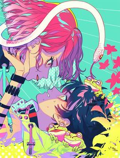 now we're lost somewhere in outer space in a hotel room where demons play Pretty Art, Cute Art, Aesthetic Art, Aesthetic Anime, Art Goth, Manga Art, Anime Art, Arte Cyberpunk, Japon Illustration