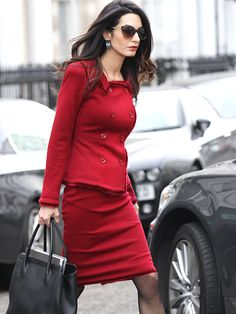 Star Tracks: Monday, January 25, 2016 | LADY IN RED | Amal Clooney is a style force to be reckoned with while stepping out in a perfectly tailored crimson ensemble in London on Monday.