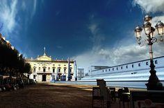 """Un moment de la sèrie documental """"Ingeniería romana"""", de La 2 de TVE, reconstrucció virtual del circ romà. Fotograma: Pere Toda - Vilaniu Comunicació"""