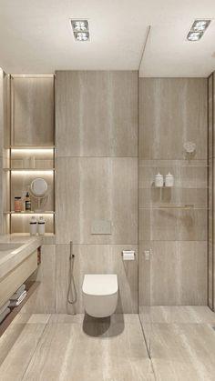 2 Single Bedroom Homes With Warming Wood Tones Bathroom Design Luxury, Modern Bathroom Design, One Bedroom Apartment, Apartment Design, Luxury Bedroom Furniture, Luxury Bedding, Futuristisches Design, Bathroom Design Inspiration, Home Room Design