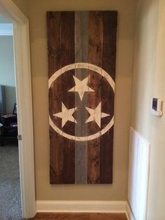 Tennessee State Flag by THEURBANUPCYCLETN on Etsy