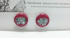 Check out this item in my Etsy shop https://www.etsy.com/listing/255561595/pink-elephant-earrings-elephant-post