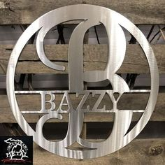 Circle Split Letter Monogram Metal Wall Art Crafted From High Quality Steel Made In Livonia, Mi. Available In 5 Popular Colors, Available In 4 Popular Sizes. Metal Artwork, Metal Wall Art, Monogram Signs, Letter Monogram, Man Cave Metal, Wall Art Crafts, Letter Wall, Custom Metal, Yard Art