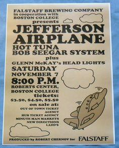 boston concert posters | Jefferson Airplane Concert Poster Boston 1970 Bob Seger System Hot ... Rock Posters, Band Posters, Music Posters, Festival Posters, Concert Posters, College Presents, Jefferson Starship, Jefferson Airplane, Grace Slick