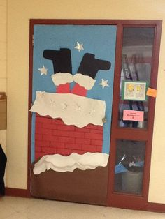 Christmas door decorating contest (NO tape, except for painters tape) Christmas Classroom Door, Office Christmas, Preschool Christmas, Christmas Design, Christmas Art, Christmas Door Decorating Contest, Christmas Door Decorations, Christmas On A Budget, Simple Christmas