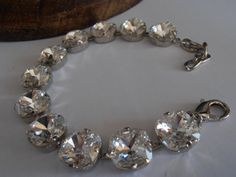 Clear Crystal 12mm 4470 Swarovski crystals by ParisiJewelryDesigns, $85.00