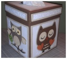 Owl Tissue Box Part 2