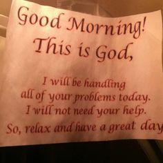 Thanks God :)