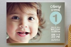Stacked Balloon Children's Birthday Party Invitations by guess what? at minted.com