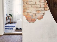 exposed brick knock though - Google Search