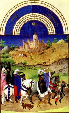August illustration from the Labors of the Months, The Tres Riches Heures du Duc Berry (Book of Hours) ca, - In the background is the Château d'Etampes. Art Prints, Medieval Art, Illustration, Renaissance Art, Painting, Illuminated Manuscript, Art, Gothic Art, Art History