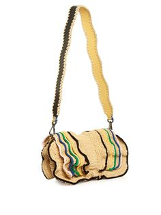 Click here to buy Fendi Baguette Wave raffia cross-body bag at MATCHESFASHION.COM