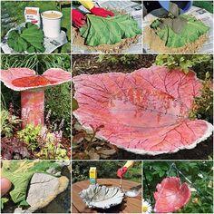 How to DIY Sand Cast Birdbath in Leaf Shape tutorial and instruction. Follow us: www.facebook.com/fabartdiy
