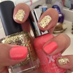 mix and match #sparkling nail polish!