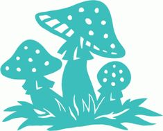 Silhouette Design Store - View Design mushrooms on ground Fairy Silhouette, Silhouette Portrait, Silhouette Design, 3d Templates, Fairy Lanterns, Diy And Crafts, Paper Crafts, Silhouette Cameo Projects, Watercolor Cards