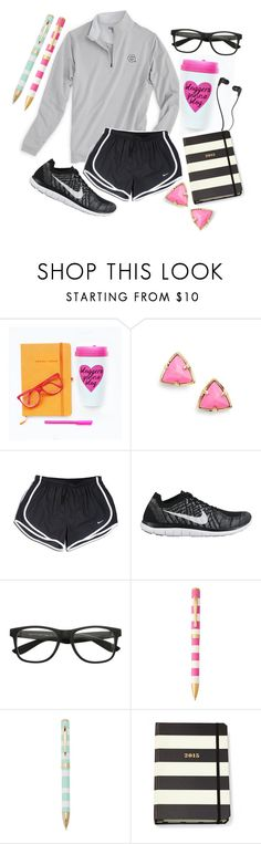 """bloggers gonna blog"" by so-preppy ❤ liked on Polyvore featuring Kendra Scott, NIKE, Kate Spade, Skullcandy, women's clothing, women's fashion, women, female, woman and misses"