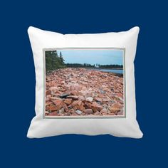 Coastal Rocks Pillow I love the ocean. The photo displayed on this pillow was taken while my husband and I were exploring Acadia National Park in Maine.  I found the colorful rocks along the seaside to be just amazing. Prices for this pillow start at $65.80 http://www.zazzle.com/coastal_rocks_pillow-189946831943230502