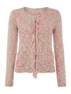 Ipotesi long sleeved boucle cardigan by Marella