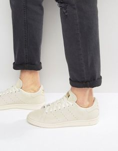 hot sale online 3d0ef ab3af adidas Originals Stan Smith Sneakers In White BA7441
