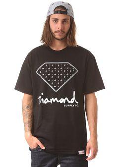 #planetsports DIAMOND - Paisley S/S T-Shirt black